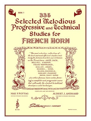 335 Selected Melodious Progressive & Technical Studies - French Horn