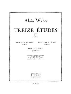 13 Etudes For French Horn (Weber)
