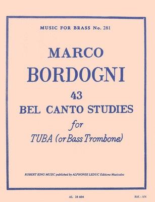 44 Bel Canto Studies for Bass Trombone (Bordogni)