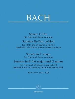 3 Sonatas BWV 1020, 1031, 1033